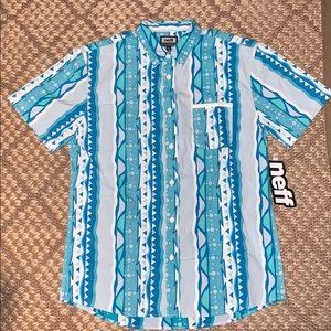 Neff Blue Morris Pocket Button Up